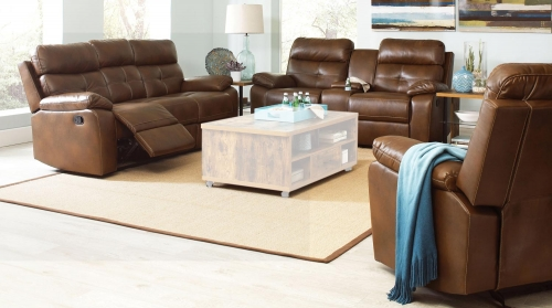 Damiano Motion Sofa Set - Brown