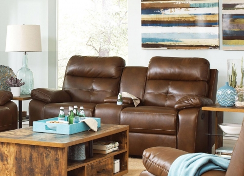 Damiano Motion Love Seat - Brown