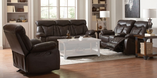 Zimmerman Motion Sofa Set - Dark Brown