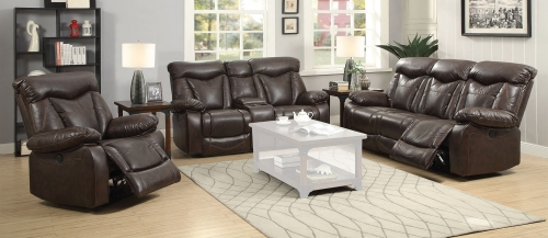 Zimmerman Motion Power Sofa Set - Dark Brown