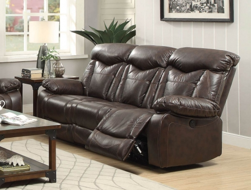 Zimmerman Motion Power Sofa - Dark Brown