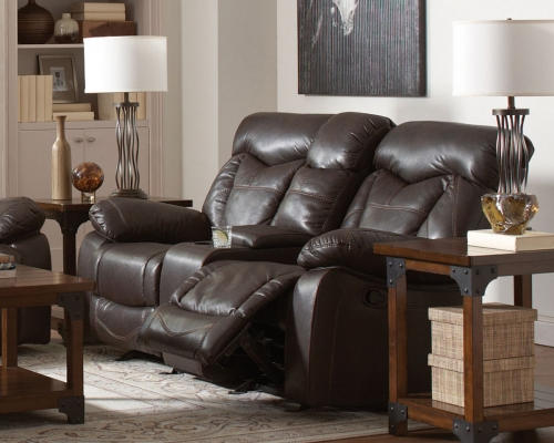 Zimmerman Motion Love Seat - Dark Brown