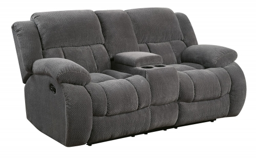 Weissman Reclining Love Seat - Charcoal