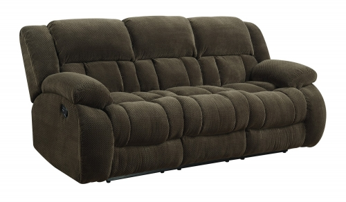 Weissman Reclining Sofa - Brown