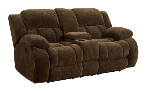 Weissman Reclining Love Seat - Brown
