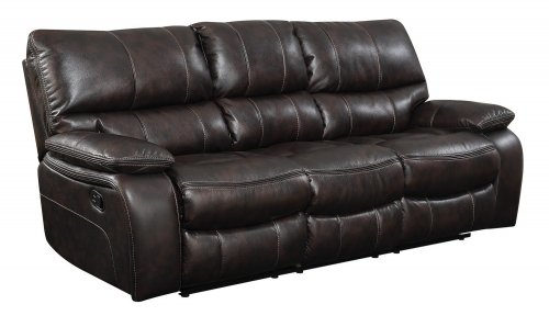 Willemse Reclining Sofa - Two-tone Dark Brown