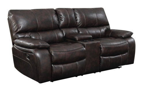 Willemse Reclining Love Seat - Two-tone Dark Brown