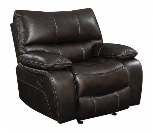 Willemse Glider Recliner - Two-tone Dark Brown