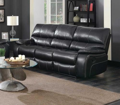 Coaster Willemse Motion Sofa - Black