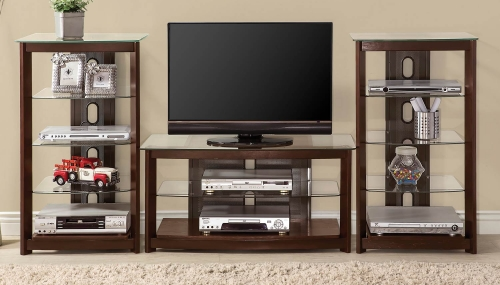 700321 Entertainment Wall Unit - Dark Iridescent Brown
