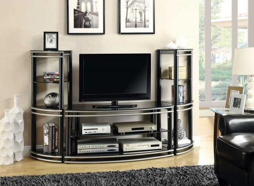 700722 TV Entertainment Set - Black/Silver