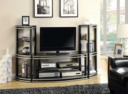 Coaster 700722 TV Entertainment Set - Black/Silver