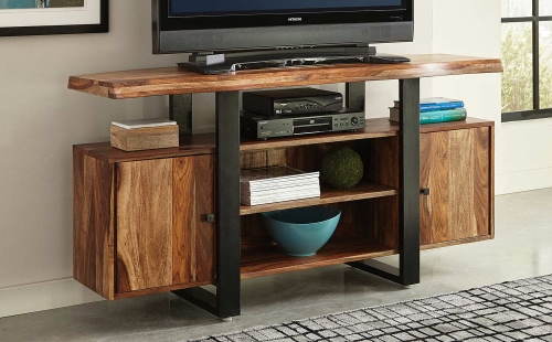 Knox Live Edge TV Console - Natural/Black