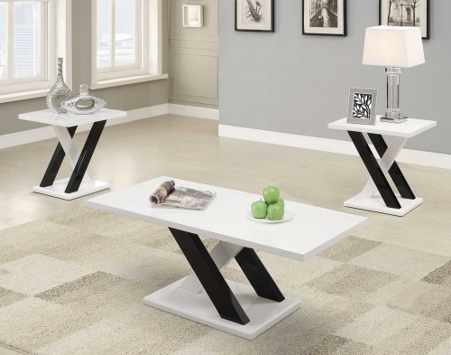 701011 Occasional/Coffee Table Set - Black/White