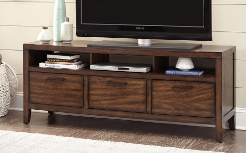 Silas TV Console - Warm Brown