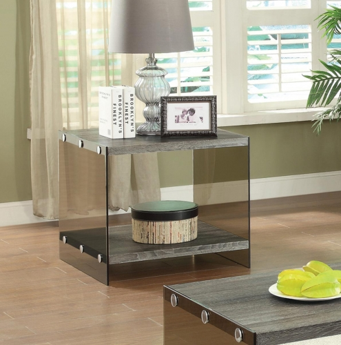 701967 End Table - Weathered Grey