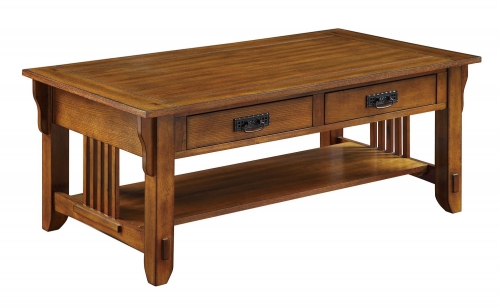 702008 Coffee/Cocktail Table - Warm Brown