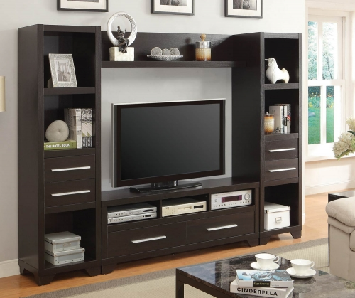 703301 Entertainment Wall Unit - Cappuccino