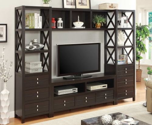 703311 Entertainment Wall Unit - Cappuccino