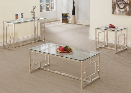 703738 Coffee/Cocktail Table Set - Nickel