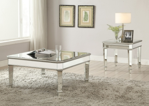 703938 Coffee/Cocktail Table Set - Silver
