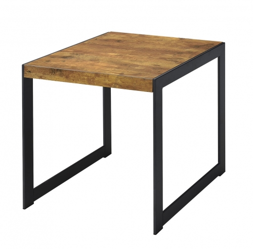 704027 End Table - Antique Nutmeg/gunmetal