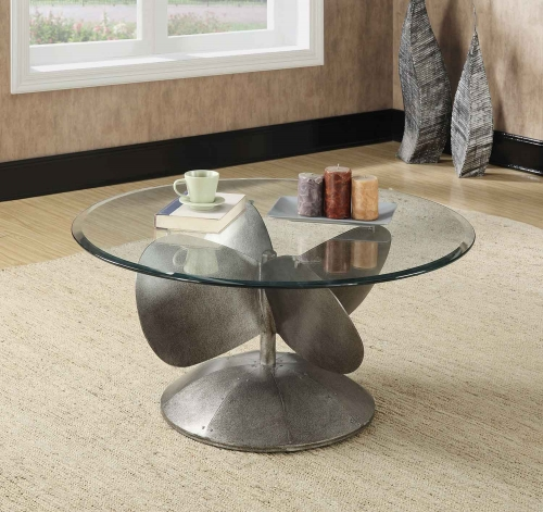 704558 Coffee Table - Aged Metal