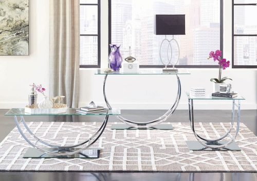 704988 Occasional/Coffee Table Set - Chrome