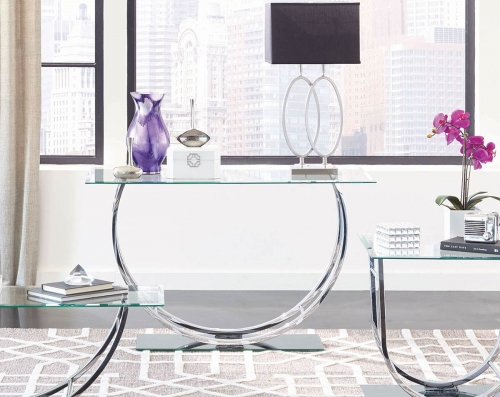 704989 Sofa Table - Chrome