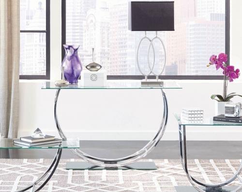 704989 Sofa Table - Chrome