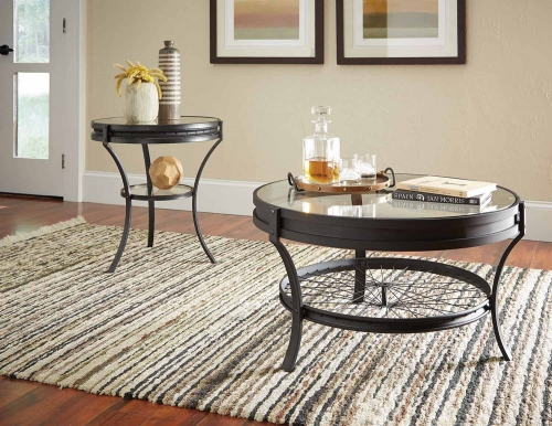 705218 Occasional/Coffee Table Set - Sandy Black