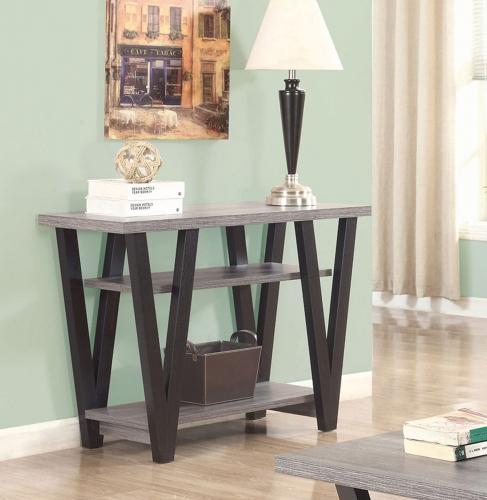 705399 Sofa Table - Antique Grey/Black