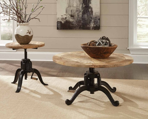 Brownswood Coffee Table Set - Natural Wood
