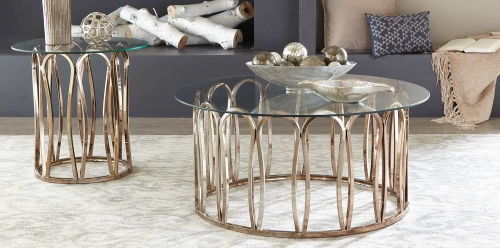 Coaster Hemet Coffee Table Set - Light Grey