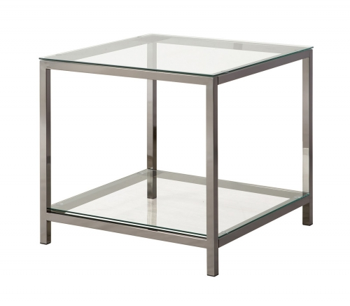 720227 End Table - Black Nickel