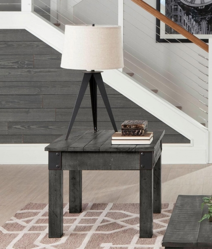 720577 End Table - Rustic Grey