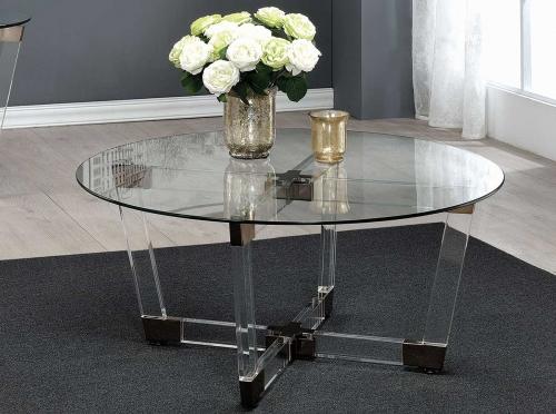 720718 Coffee Table - Chrome/Clear Acrylic