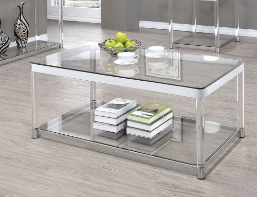 720749 Sofa Table - Chrome/Clear Acrylic