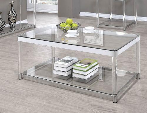 720749 Sofa Table - Chrome/Clear Acrylic