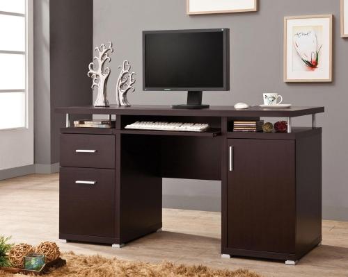 800107 Computer Desk - Cappuccino