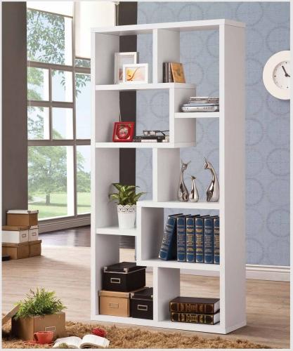 800136 Bookshelf - White