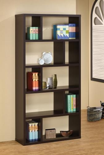 800296 Bookcase - Cappuccino