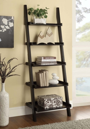 800338 Ladder Bookcase - Cappuccino