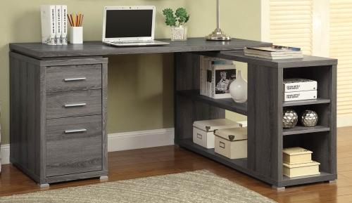 Yvette Office Desk - Weathered Grey