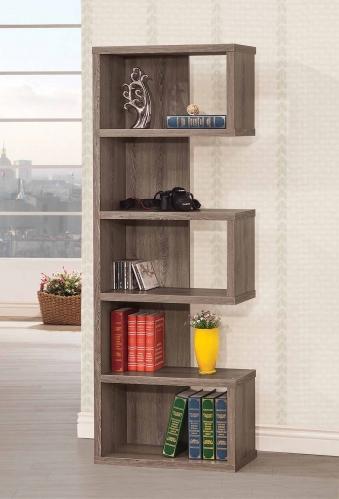 800552 Bookcase - Weathered Grey