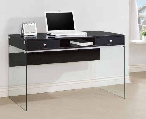 800830 Computer Desk - Glossy Black