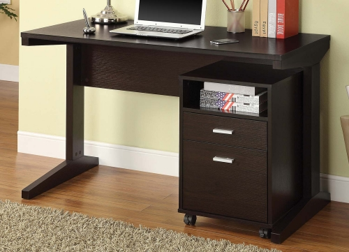 800916 2-PC Desk Set - Cappuccino