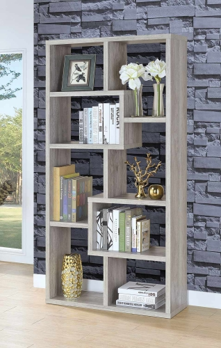 801137 Bookcase - Grey Driftwood