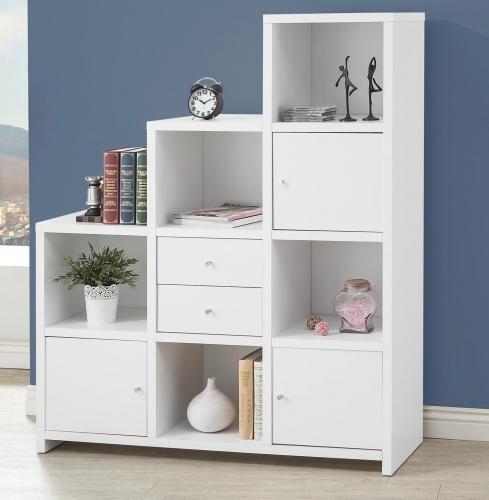 801169 Bookcase - White