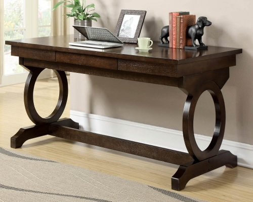 Enedina Office Desk - Chestnut